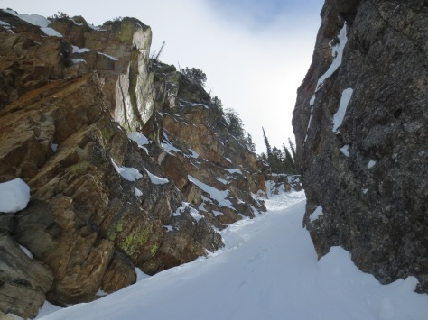 Just another snow-filled slot in GTNP.
