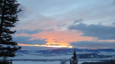 Sunrise from Shadow Peak, GTNP on 12.26.2013.  Two avalanche fatalities took place a few miles South of GTNP that day.