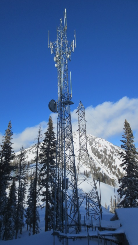 Mount Glory is somewhere behind that cell tower and power line.  December 2013.