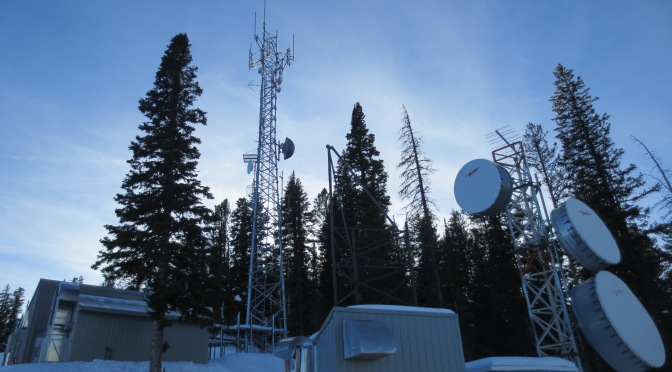 Cell phone towers on Teton Pass Wyoming