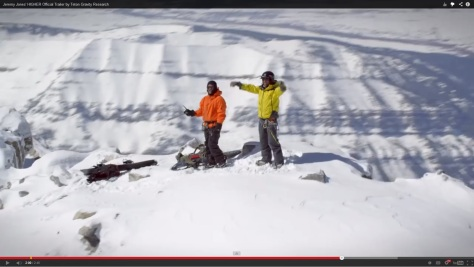 Jones and Iguchi celebrating atop the Grand Teton.  Where did their guides go?