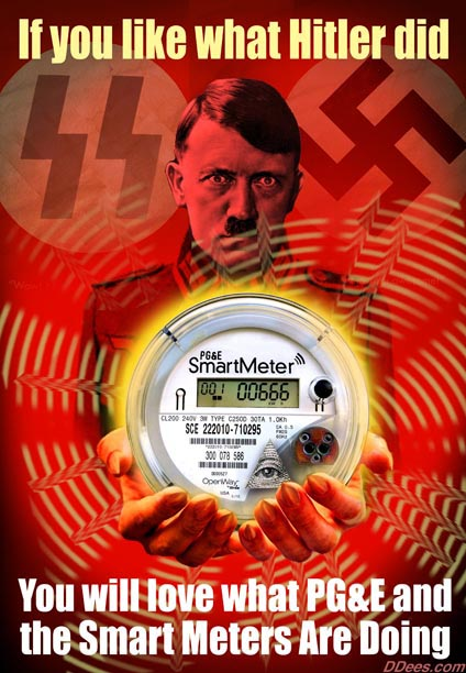 smart meters pge electromagnetic radiation toxins hitler holocaust genocide death - Copy