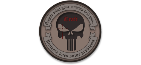 craft international kooks patch violence does solve problems
