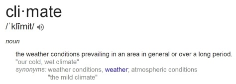 Google definition of climate