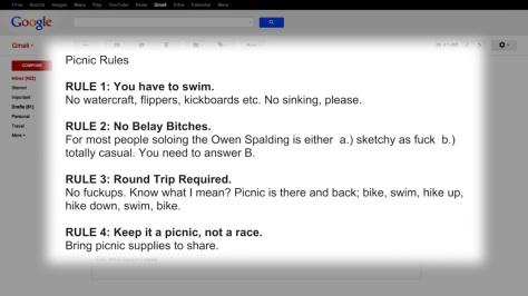 Picnic Rules