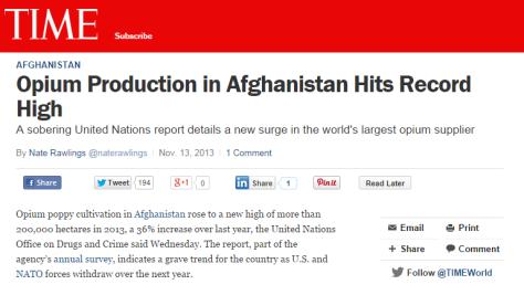 Time Magazine Article, November 13th, 2013