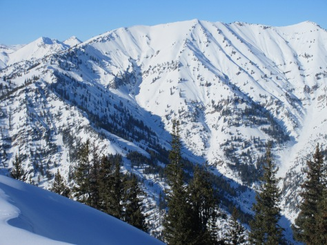 S Aspect of Blowout Mountain from Middle Indian (looker's right): 1.31.15