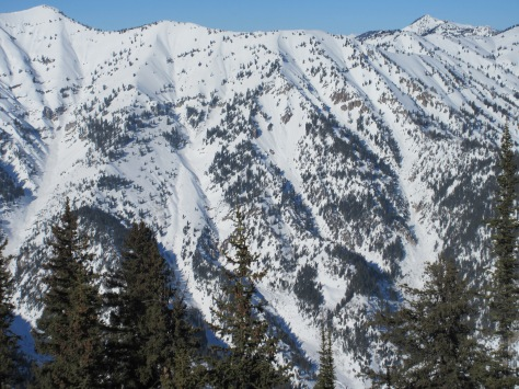 S Aspect of Blowout Mountain from Middle Indian (looker's left): 1.31.15