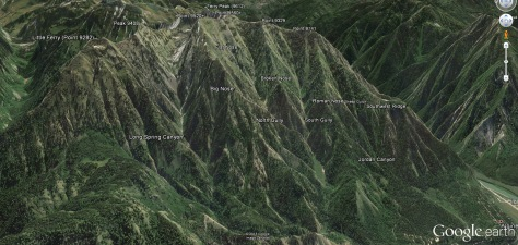 Ferry Peak, West Face, Handy Dandy Map-eroo