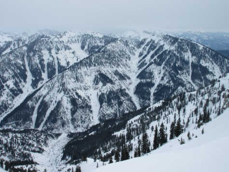 Middle Indian N aspects from Blowout Mountain, Indian Creek, Palisades, Wydaho