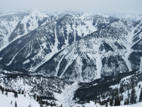 Middle Indian N aspects from Blowout Mountain (looker's left), Indian Creek, Palisades, Wydaho