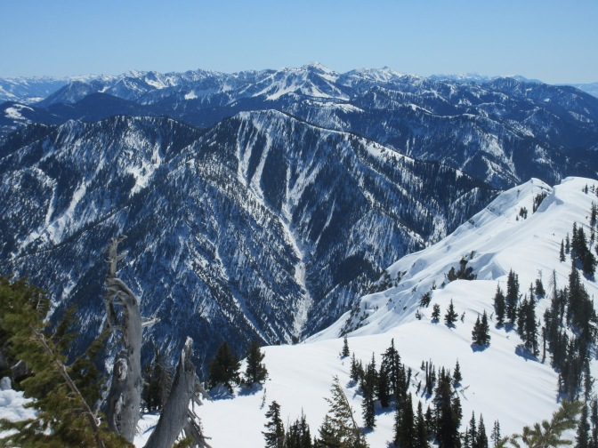 Wydaho Snow: 3.20.15: Ferry Peak Holding Up Despite Record Temps