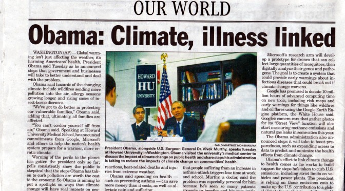 Obama: Climate Change Causes Asthma, Nevermind Chemtrails Causing Both