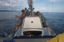 Left to right, Tu Laki, Max, and Hughmon somewhere off the coast of Costa Rica.