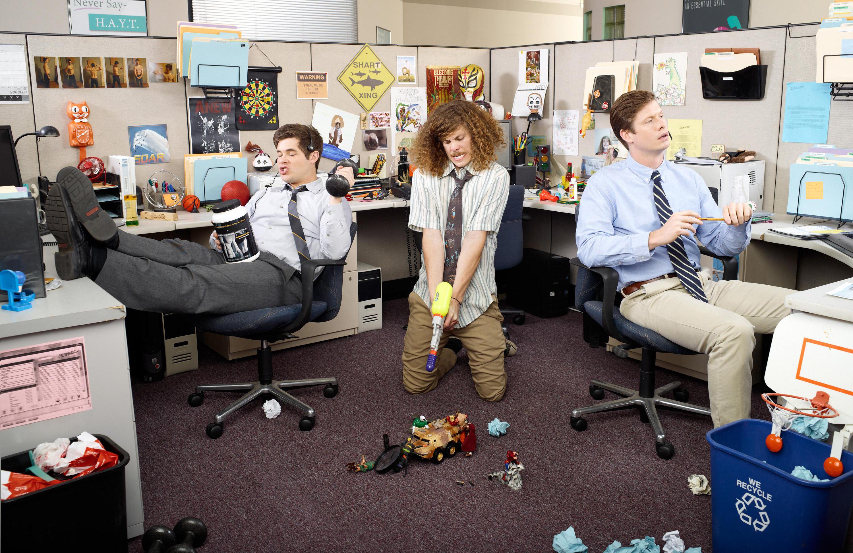 Прикольная открытка разные сотрудники на работе