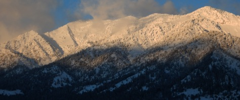 Ferry Peak Alpenglow Christmas 2015