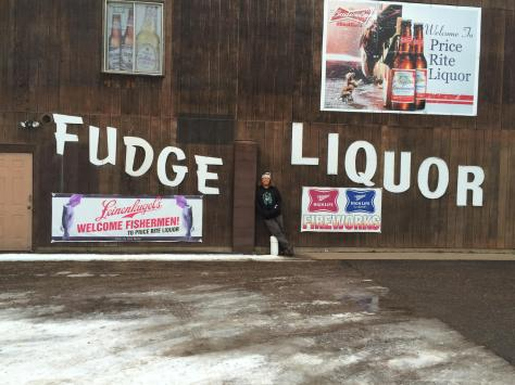Hayward Wisconsin Fudge Liquor Sign