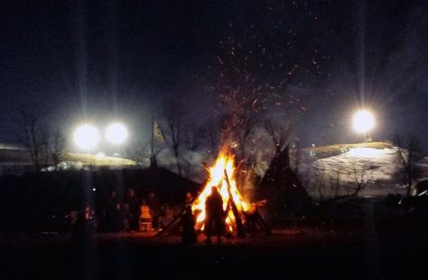 Max Mogren Standing Rock Bonfire