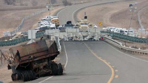 Max Mogren Standing Rock Road Block November