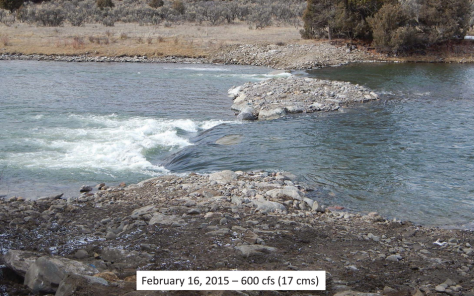 Gore Canyon Whitewater Park at Low Water